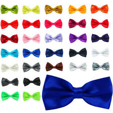 Mens Clipon Bow Tie Bowtie Satin Silk Feel Wedding Party Pre Tied Clip-on Office