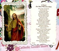 A Prayer for Those who Live Alone - Scalloped trim - Paperstock Holy Card