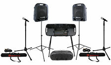 Peavey Escort 5000 500w Foldable Portable Active PA System+Mixer+Stand+Case+Mics