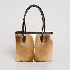 Springbok Skin Handbag real genuine leather springbok hide hand bag Deanne