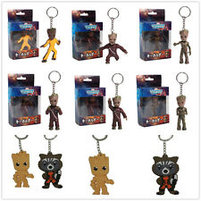 Guardians of the Galaxy Baby Groot Rocket Raccoon Soft Keychain Keyring Gift QUE