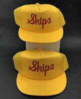 VTG Skips Mesh Trucker Snapback Hat Dad Cap One Size Fits All Lot Of 2 V