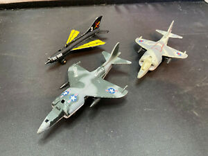 Vintage Matchbox Diecast Airplane Military Fighter Jet Lot Harrier SB-27