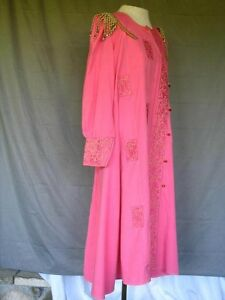 Medieval Renaissance Asian Princess Joseph Pink Dress Gown Embroidery King and I