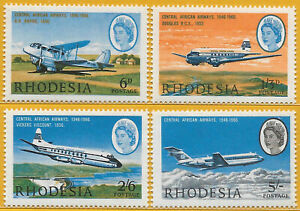 Rhodesia 1966 Set 20th Anniversary of Central African Airways sg 393-6 MNH.