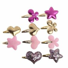 10pcs Cute Butterfly Hearts Stars Kids Girls baby Hair Clips Hair Accessories