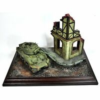 Military Diorama Scenery Layout Ruin Corner House 1/35 Sand Table Model Building