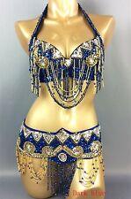 Handmade bead Belly Dance Costume Outfit Set Bra Belt Carnival 2PCS