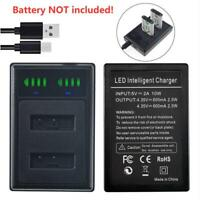 Battery DUAL USB Charger for Sony NP-BX1 DSC RX100 II III RX1R RX100M2 RX100M3