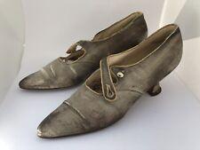 Vintage Antique Edwardian Metallic Women's Shoes 1910 Iveys Dept. Store Nc