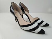 Wittner Black & White Leather D'Orsay Pump Mid Heel Women's Size EUR35 TOULOUSE