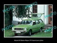 OLD LARGE HISTORIC PHOTO OF MAZDA 818 STATION WAGON 1974 LAUNCH PRESS PHOTO 2