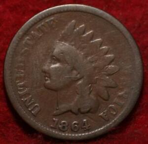 1864-L Philadelphia Mint Bronze Indian Head Cent