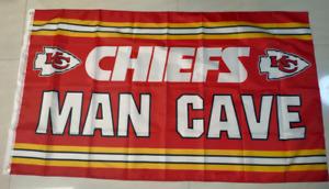 Kansas City Chiefs Man Cave Flag 3X5 FT Football NFL Banner Polyester
