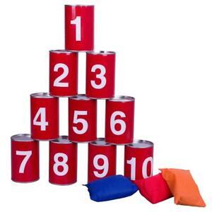 Dosenwerfen Dosenwurf-Spiel Büchsenwerfen Partyspiel Wurfspiel 10 Dosen 3 Säcke