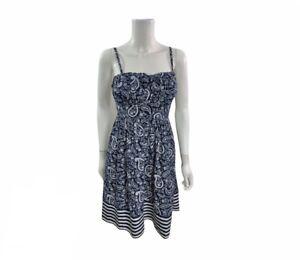 Maurices Women's Size Medium Sleeveless Blue  Paisley A Line Dress