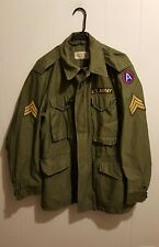 US Army M-1951 OG 107 Man's Field Jacket Coat Reg Small Vietnam Korea with Hood
