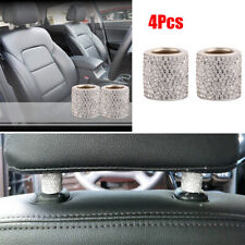 4x Car Seat Headrest Collar Decoration Artificial Crystal Diamond Ring Universal