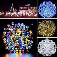 Solar Power 100/200 LED String Fairy Tree Light Outdoor Wedding Party Xmas Lamp