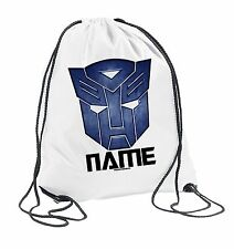 TRANSFORMERS OPTIMUS PRIME PERSONALISED KIDS Drawstring School PE Bag Autobots