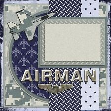 AIR FORCE AIRMAN - 2 Premade Scrapbook Pages - EZ Layout 734