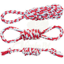 Trixie 3pk Dog Tough Cotton Toys Bundle Playing Rope Hand loops | Throw Dummy