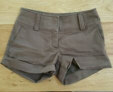 H&M Womens Brown Casual Shorts with Pockets Size 8 Euro 38