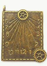 Steampunk Sundial Charm, 40mm x 33mm
