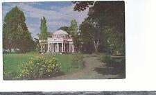 Monticello   The West Front & Garden   Charlottesville VA  Unused Postcard 624