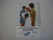 advertising Pubblicità 1971 TELEVISORE NAONIS TN 12