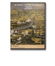 83 Rare Historic Civil War Maps of Virginia VA Vol 3 on CD - B23