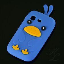 Samsung Galaxy Pocket S5300 Soft Silikon Case Schutz Hülle Etui Chicken Blau 3D