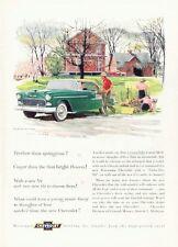 1955 Chevrolet PRINT AD Chevy Bel Air 2-Door Coupe Sport Nice Artwork Rural Farm