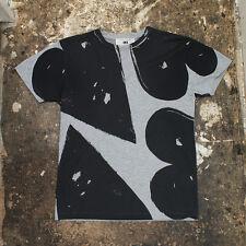 NUOVO MARC JACOBS nero e grigio grafica t-shirt originale prezzo consigliato: £ 170 BNWT-Taglia: S