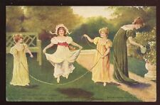 Advert PEARKS Tea and Butter Children Skipping 1907 PPC