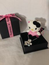 Hello Kitty Momoberry Sanrio Sterling Silver Necklace Plush Charm RARE