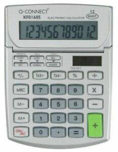 Dual Powered 12 Digit Semi-Desktop Calculator - Financial Desk Large Display