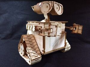 Laser Cut Wooden Wall E Robot. 3D Model/Puzzle Kit