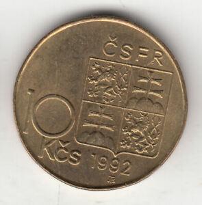 CZECHOSLOVAKIA 10 KORUN 1992 RASIN            82K           BY COINMOUNTAIN