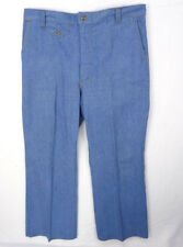Vintage 70s Wide Leg Denim Jeans Size 34x30 Short Sears Joint  70s Nautical Work