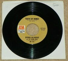 "Herb Alpert Taste of Honey b/w 3rd Man Theme orig A&M vinyl 45 rpm 7"" record G+"