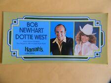 "BOB NEWHART & DOTTIE WEST - HARRAH'S LAKE TAHOE AUG. 6, 1981 - 4"" X 8"" POSTCARD"