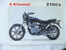 Kawasaki moto z1100 Z 1100 pubblicita brochure depliant motorcycles prospect