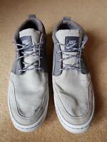 Nike Wardour Chukka Mid Suede Canvas Trainer Size 9 UK refP75 men grey
