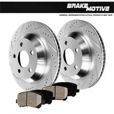 Rear Drilled & Slotted Brake Rotors And Ceramic Pads Fits FX35 M37 M56 Quest