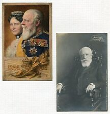 TWO PHOTO POSTCARDS OF GRAND DUKE FRIEDERICH & GRAND DUCHESS LOUISE BADEN