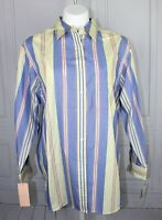 Womens NWT $64 Size 1X Jones New York Sport  Woman Striped Cotton blouse New