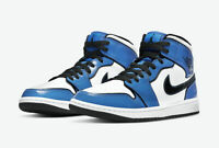 Nike Air Jordan 1 Mid SE Shoe Signal Blue White Black DD6834-402 Men's NEW