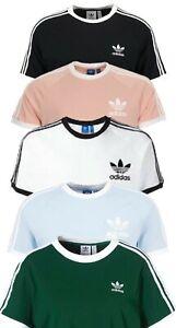 Adidas T-Shirt Originals California Linear 3 Streifen Stripes Herren Größe S-XL