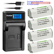 Kastar Battery LCD Charger for Canon NB-9L CB-2LB & Canon IXY 50S Camera